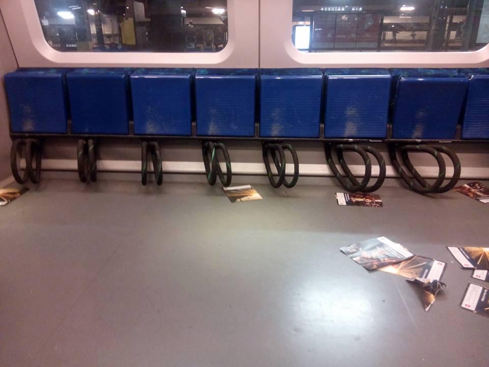 Cycle storage on a train in Copenhagen