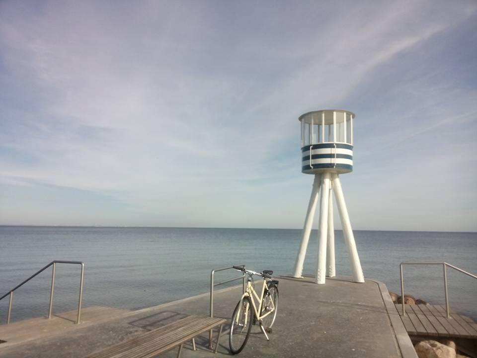 Bike and sea at Copenhagen