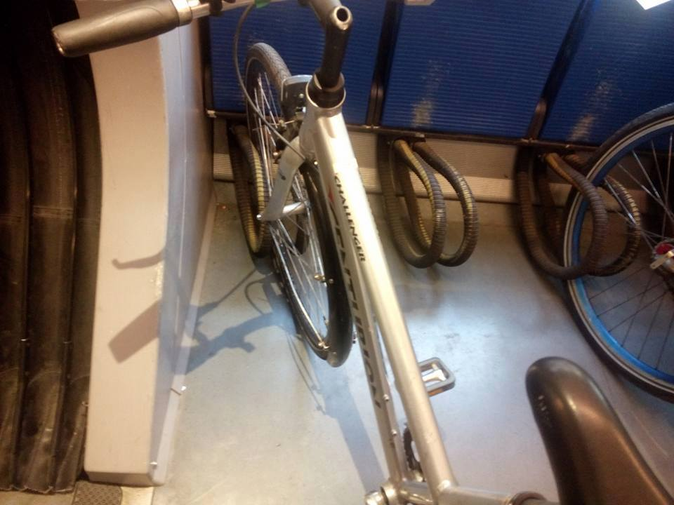 Wheel loops in use on a train in Copenhagen