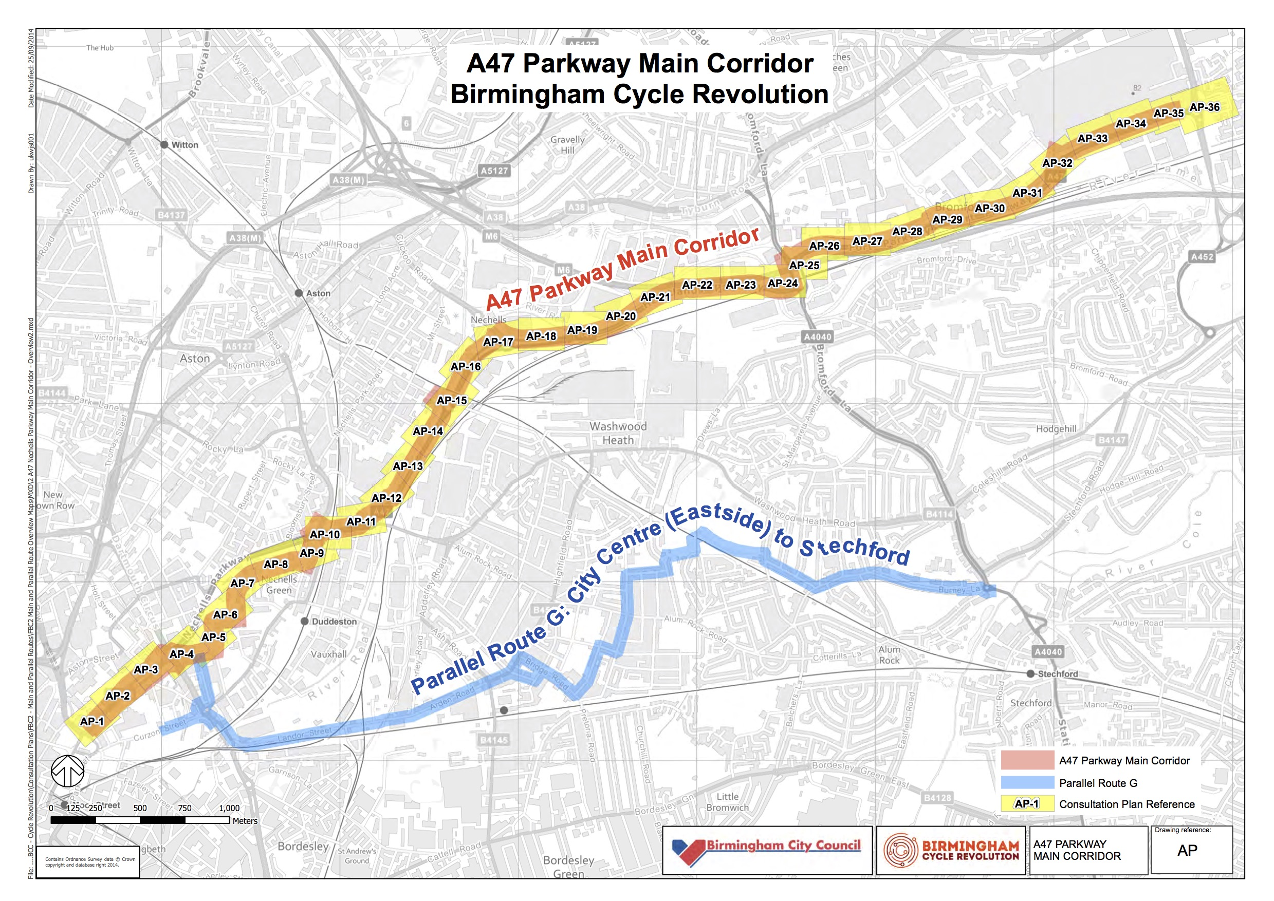 Overview of the A47 Parkway route