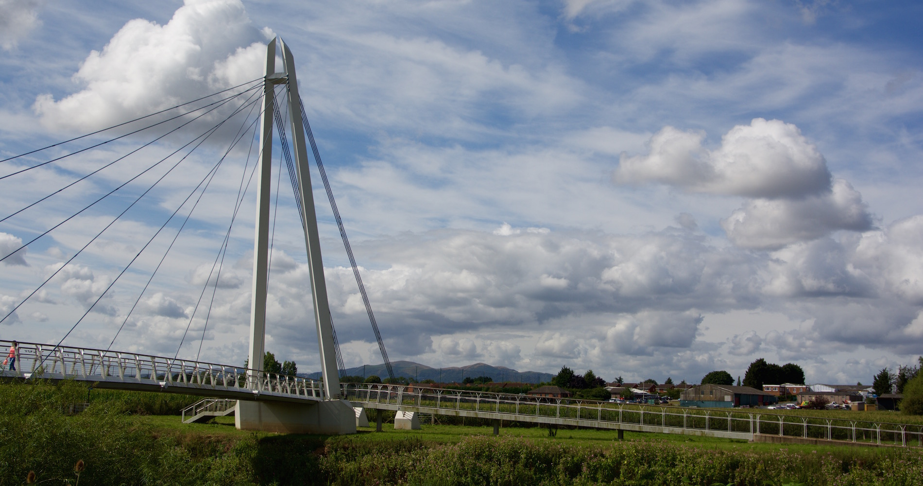 Diglis Bridge and the Malvern Hills