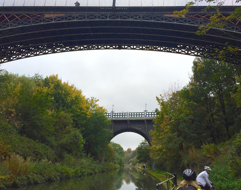 Galton bridge from below