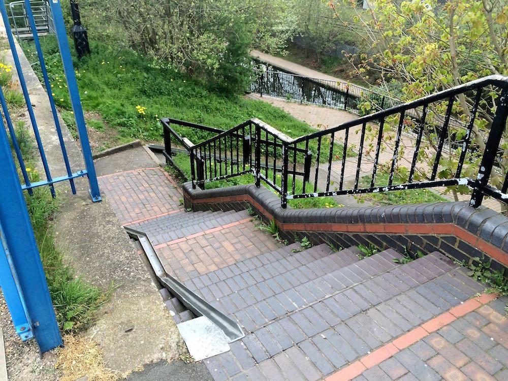 North brook Street steps top view