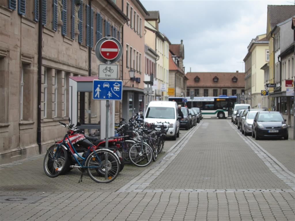 Traffic calming area in Erlangen