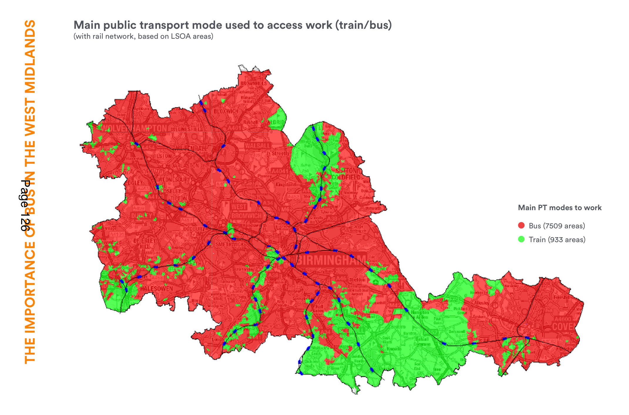 Main public transport mode used to access work