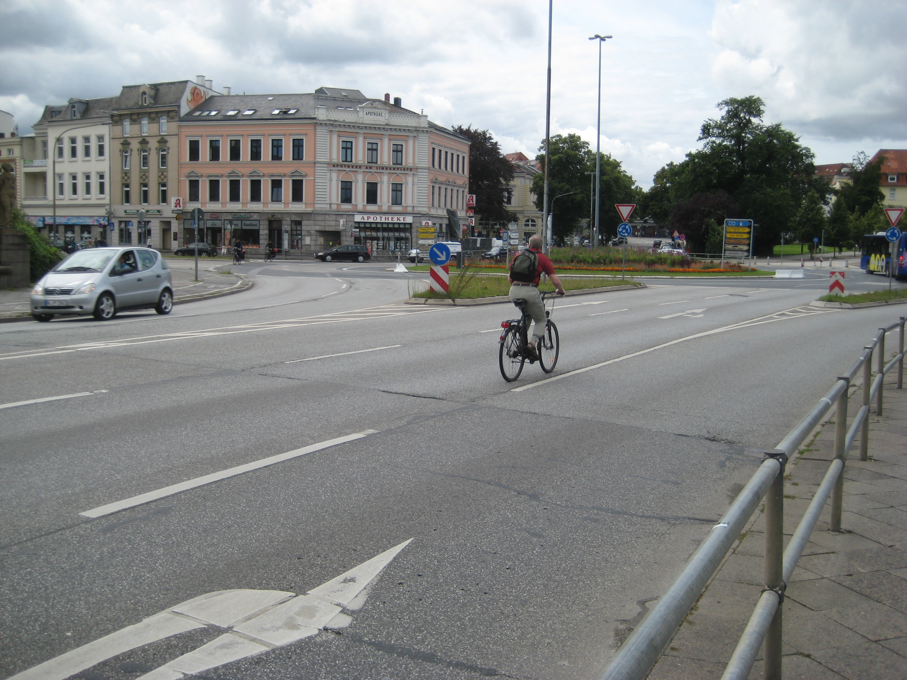 A Busy Urban Junction in Germany
