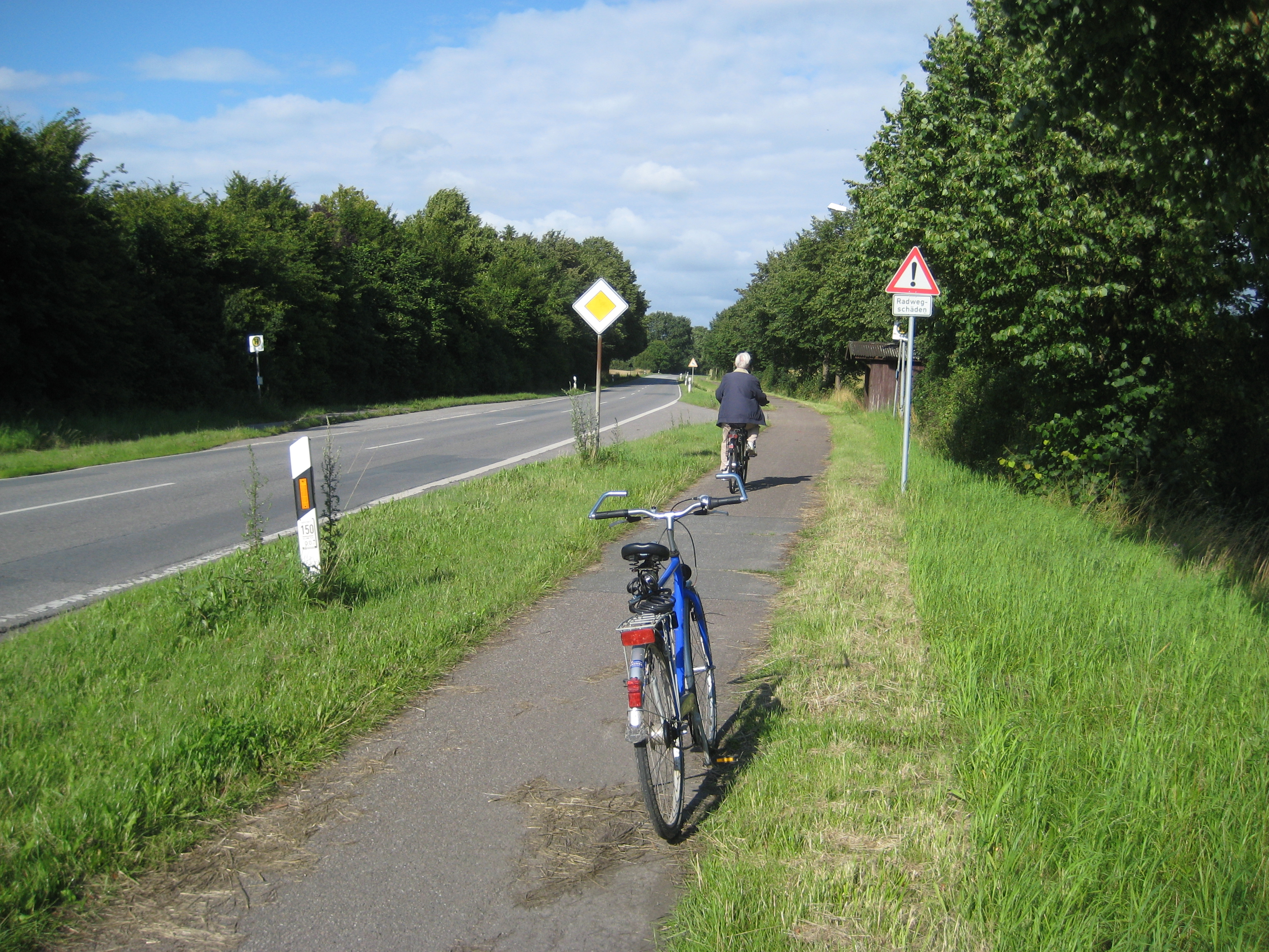 Damaged Cycleway in Germany