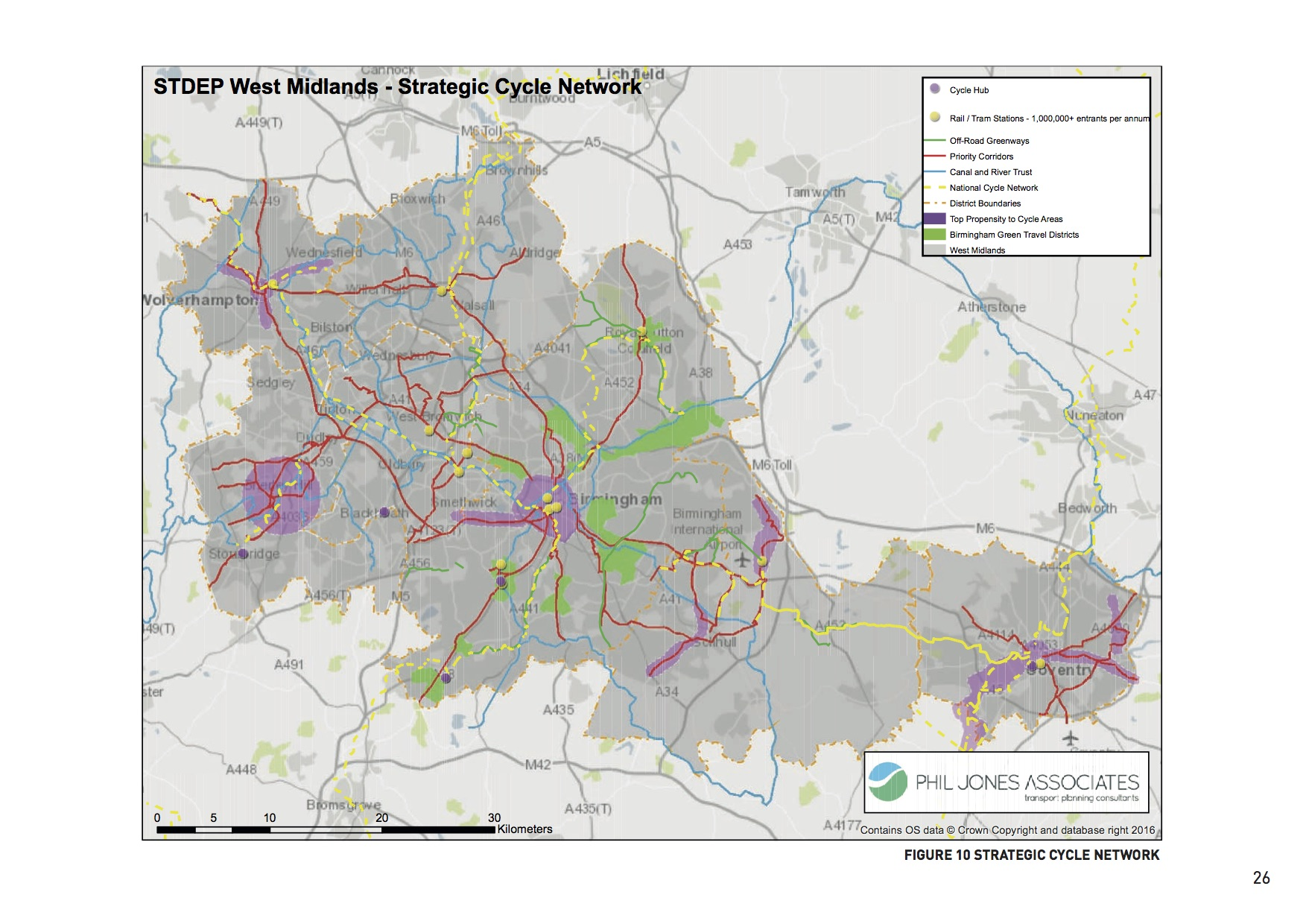 WMCA's strategic cycle network