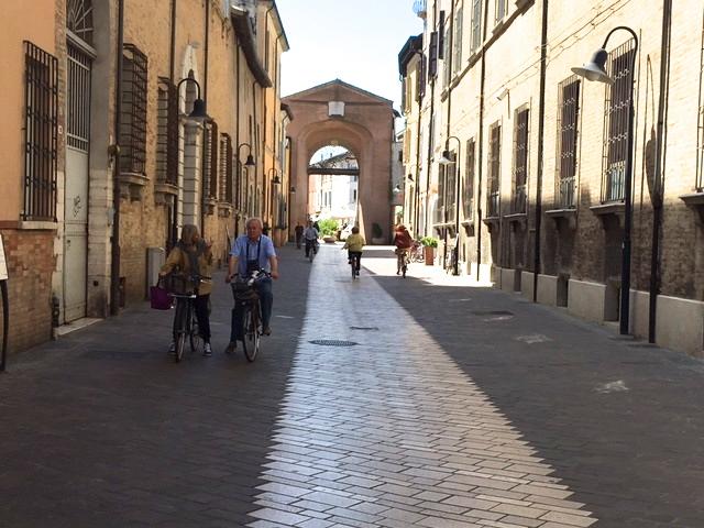 Restricted traffic street in Ravenna