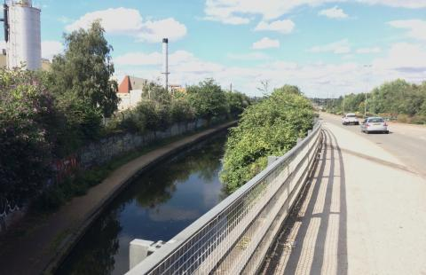 The A47 crossing over the canal.