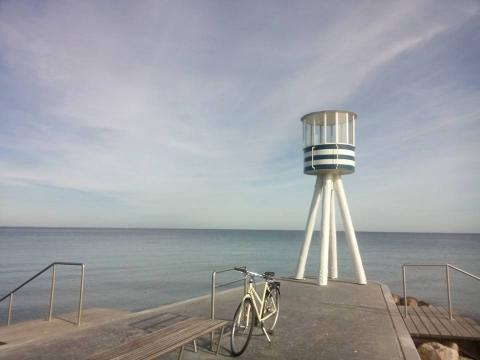 Bike and sea at Copenhagen