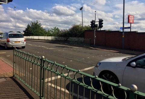 Toucan crossing on Aston Church Road