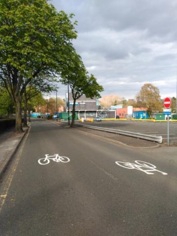 Cycle symbols on Vincent Drive