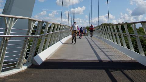 Diglis Bridge and the Malvern Hills