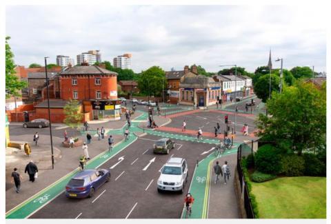 Chorlton segregated cycle tracks