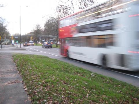 Bus using Bristol Road cycle lane