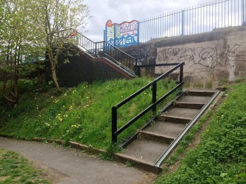 Northbrook Street steps bottom view