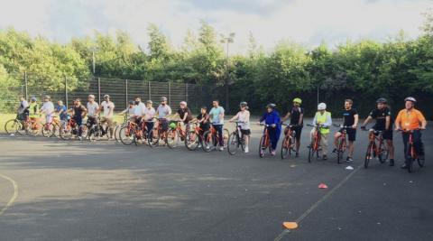Big Birmingham Bike recipients at Nechells Wellbeing Centre