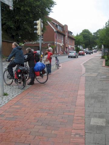 Segregated cycle path  in Preetz