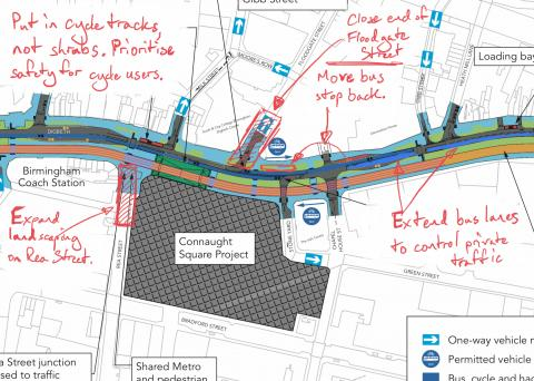 Notes on Digbeth High Street proposals