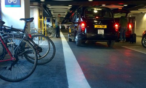 Cycle parking at New Street station drop off zone
