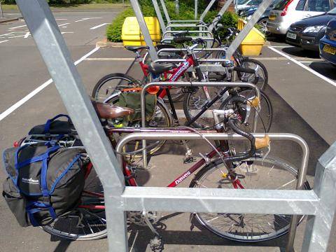 The weekly shop by bike