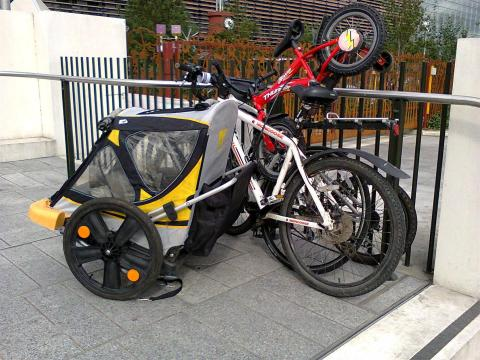 Cycle parking at Bikefest was an issue