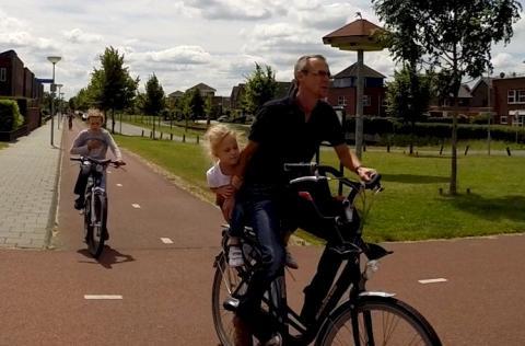 The school run in the Netherlands