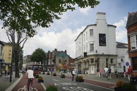 Visualisation of Bournbrook High Street