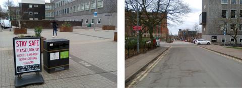 Shared Space fail at Birmingham University