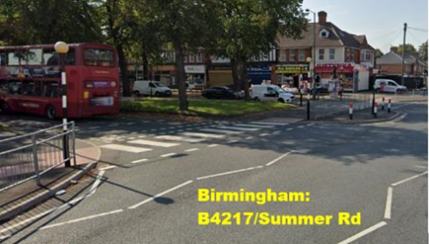 Junction of B4217 and Summer Road