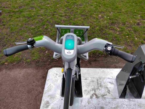 WM hire bike handlebars