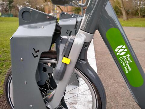 WM hire bike locking mechanism