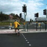 Crossing on Northfield bypass