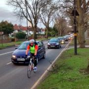 Close overtaking on Pershore Road