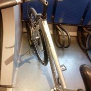 Wheel loops in use on a train in Copenhagen