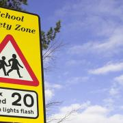 School zone 20mph variable limit sign