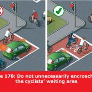 Picture showing correct use of advanced stop lines.