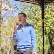 Andy Street Addresses The Big Bike Picnic for the Mayoral Elections in 2017