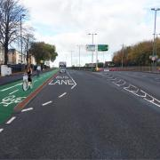 Artist's impression of the cycle track on the A34