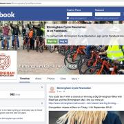 Screenshot of Birmingham Cycle Revolution's Facebook page