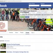 Screenshot of Birmingham Cycle Revolution's Facebook events page
