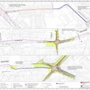 This plan shows the new cycle route alongside Longbridge Lane.