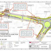 These annotated plans show the proposed changes to the Bristol Road South and Lickey Road junction.