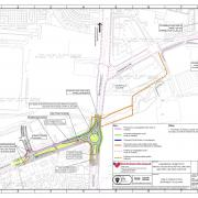 Plans that show the wider cycle route connections at Longbridge.