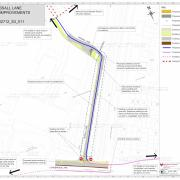 This plan shows the proposed closure of part of Tessall Lane to motor traffic.