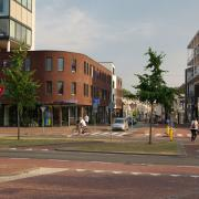 This shows a crossing out of the centre of Dordrecht.