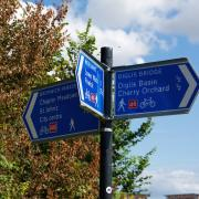 A sign next to Diglis Bridge