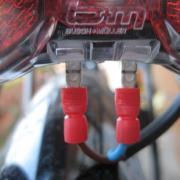 Rear light wiring