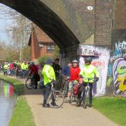 Rea Valley ride pause on the canal